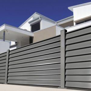 La clôture en aluminium
